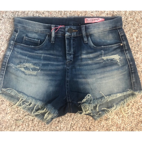 high waisted jean shorts size 14